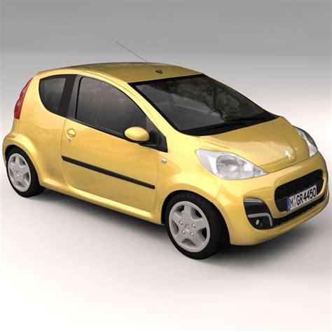 peugeot car models peugeot 107 2012 3d model max obj ma mb cgtrader com