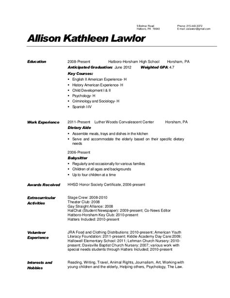 Resume Entry Level Dietitian Resume Sle