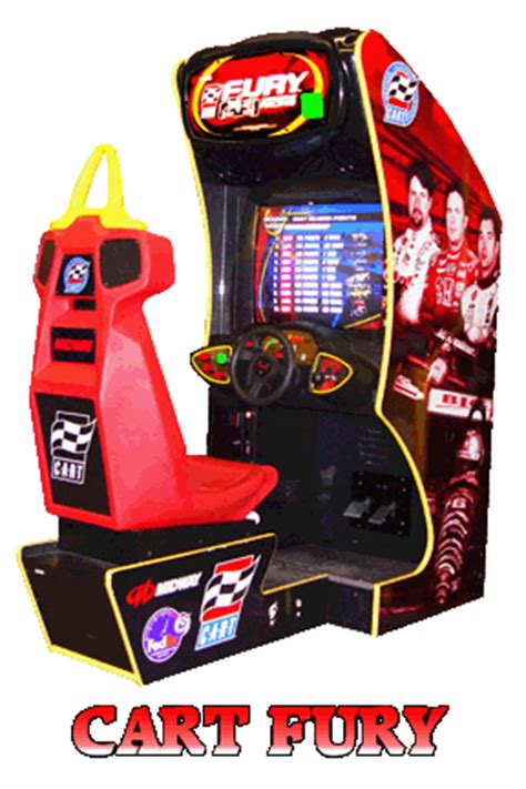 cart fury driving arcade game rentals in houston, driving