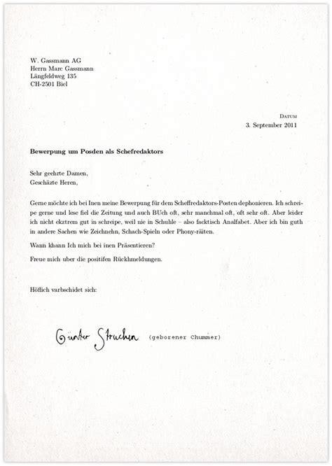 Brief Anfrage Reisebüro G 252 Nter Struchen 53 Bewerbung Als Scheffredaktr