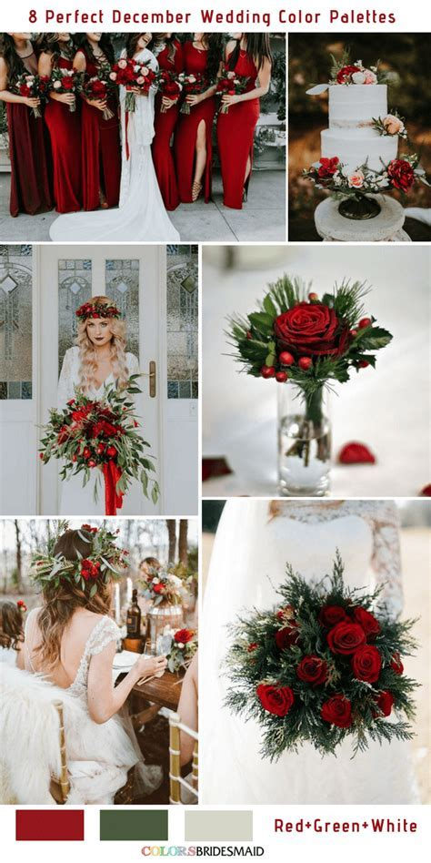 8 Perfect December Wedding Color Palettes Ideas