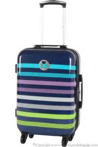 lulu castagnette valise cabine rigide agp bleu la