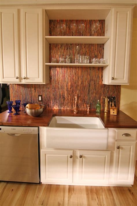 copper tile backsplash for kitchen stunning copper backsplash for modern kitchens decozilla