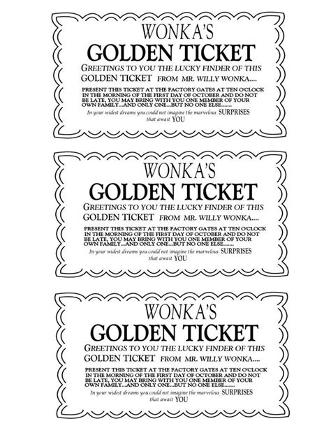 free golden ticket template 25 unique golden ticket template ideas on