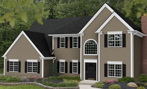 vinyl siding color tuscan clay white trim gray roof houses vinyls