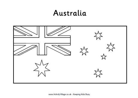 Australia Flag Colouring Page Australia Flag Coloring Page