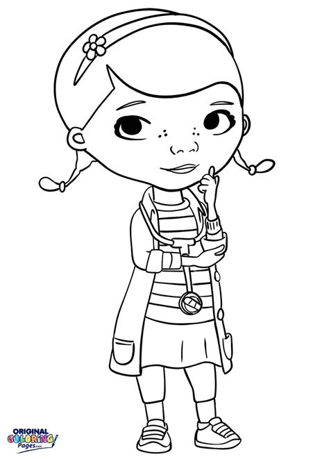 doc mcstuffins doctor coloring page coloring pages