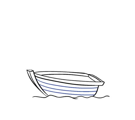 how to draw a rowboat how to draw a boat in a few easy steps easy drawing guides