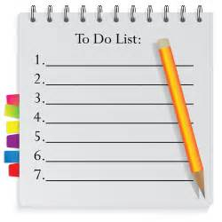 are you having plans to list your todo for today here is