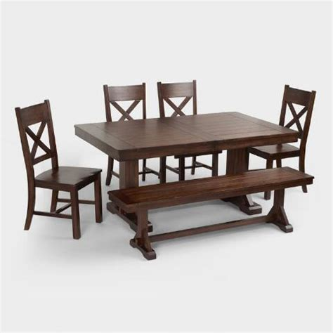 verona dining table mahogany verona trestle table world market