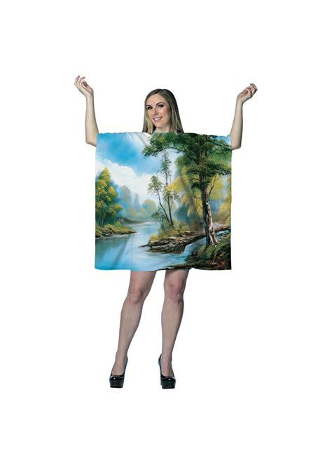 Bob Ross Painting Tree Tunic Dress Costumes