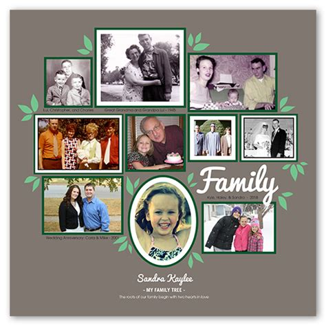 Family Tree Collage Shutterfly Shutterfly Family Tree Template