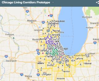 clc map getting started chicago living corridors