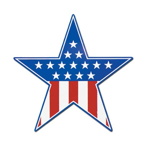 usa patriotic star cut out peeks