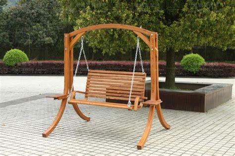 wooden swing chair child outdoor solid wood hanging basket outdoor rocking