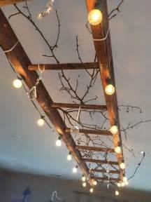 Statement Ceiling Lights Use Patio Lights And A Ladder To Make A Statement Ceiling Light Fixture Diy Home
