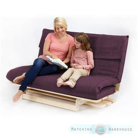 Foam Futon Sofa Bed 2 3 Seater Textured Fabric Wood Futon Base Foam