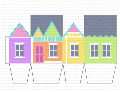 Up House Papercraft - 1000 ideas about disney up house on