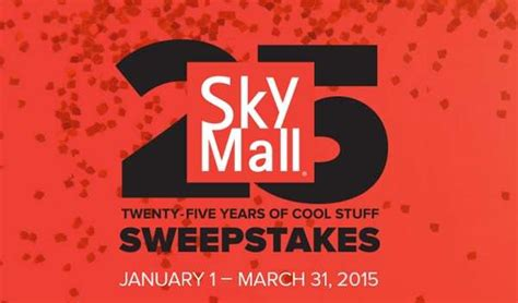 Skymall Sweepstakes - skymall com 25 year of cool stuff sweepstakes sweepstakesbible