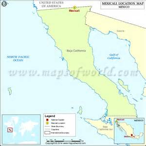 where is mexicali location of mexicali in mexico map