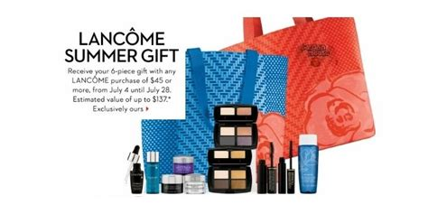 An Awesome Gift With Purchase From Lancome At Nordstrom by The Bay Canada Lancome Gift Set With 45 Purchase