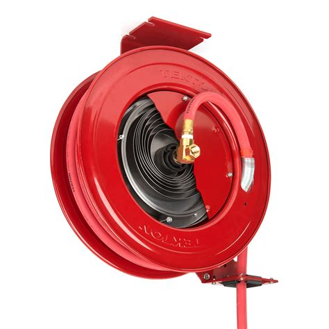 tekton 50 ft x 1 2 in i d auto rewind air hose reel