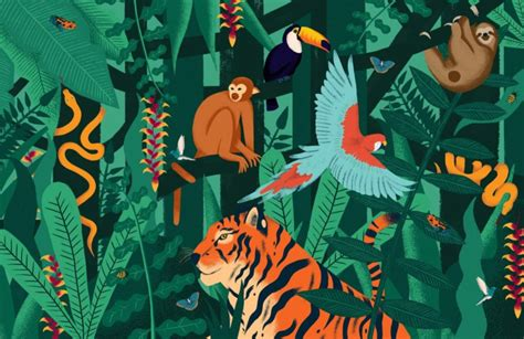 Jungle Bedroom Wallpaper Murals Jungle Animals Wallpaper Wall Mural Muralswallpaper Co Uk
