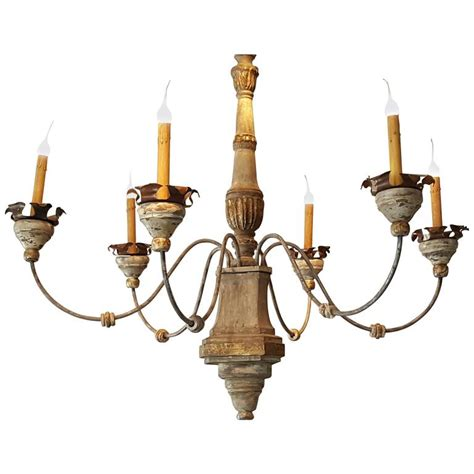 Italian Style Chandeliers Manufactured Italian Style Six Candle Chandelier At 1stdibs