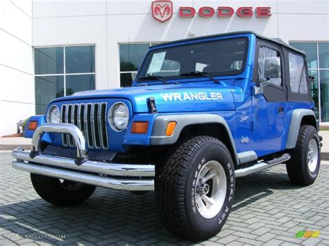 1999 jeep wrangler 1999 blue pearlcoat jeep wrangler sport 4x4