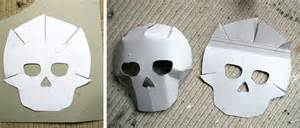cardboard skull template day of the dead crafts masks made by toya