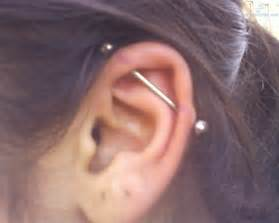 cool industrial piercing for left ear