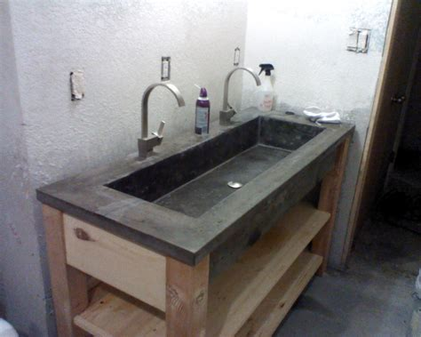cement bathroom sink concrete sink crab remodeling