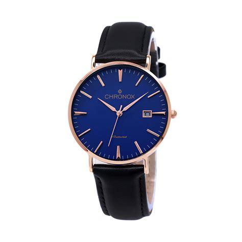 Jam Tangan Quiksilver Pria Index Angka Hitam Kulit Tanggal Hari jual chronox cx1002 c2 tali kulit hitam jam tangan pria casual biru gold harga