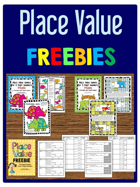 printable math games on place value place value freebies printable board games and