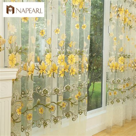 colorful bedroom curtains fashion design modern transparent tulle curtains window