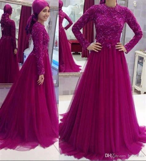 Pakaian Wanita Longdres Maxi Dress Maxi Dress Ponny robe de soiree sleeve muslim evening dresses 2017 shinning sequins lace formal