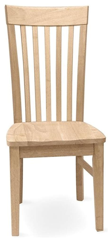 Unfinished Mission Tall Chair Set Of 2 Craftsman Craftsman Dining Chairs
