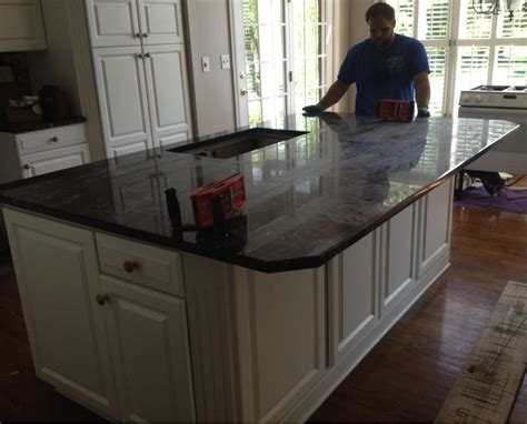 Island Countertop Overhang by One Large Island Corbel Free Floating Overhangs