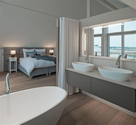 inneneinrichtung schlafzimmer minimalistisches badezimmer doppelwachbecken grau wei 223