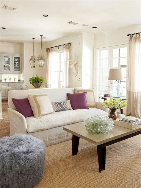 Neutral Living Room Decor | 2013 neutral living room decorating ideas from bhg home