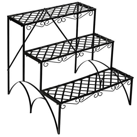 tier metal garden plant pot display shelf stand flower - Etagere 50 X 100