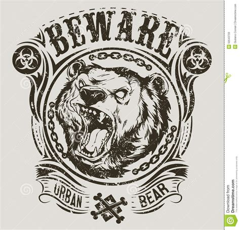 urban bear stock vector image 50543733