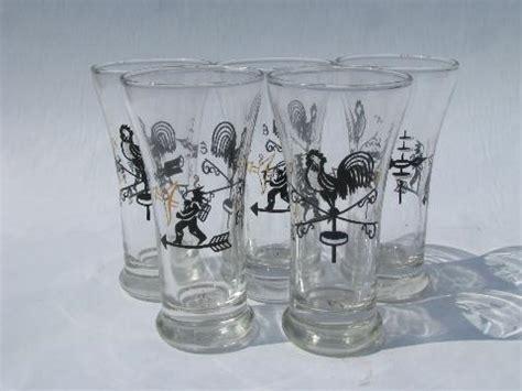 Bar Glasses India Vintage Bar Glasses Vintage Libbey Folk Rooster
