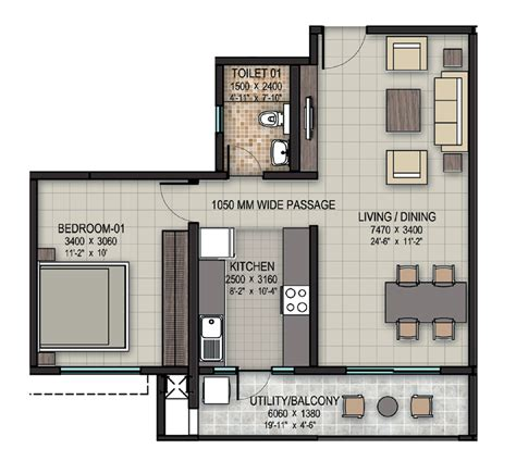 1bhk floor plan upcoming 1 bhk 2 bhk residential apartment flats for