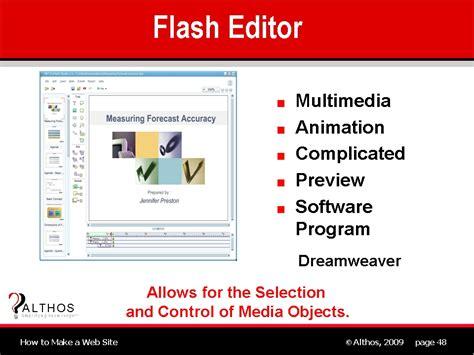 tutorial web editor web site design web site flash editor
