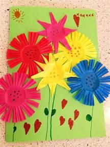 Kids Craft Summer - summer bouquet greeting card craft skip to my lou