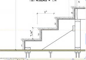 treppe schnitt stair details state of michigan residential building code