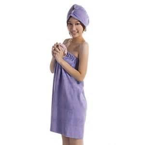 bath robe towel microfiber spa towel wrap blue terry wrap