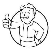 pip boy coloring page fallout pipboy clipart