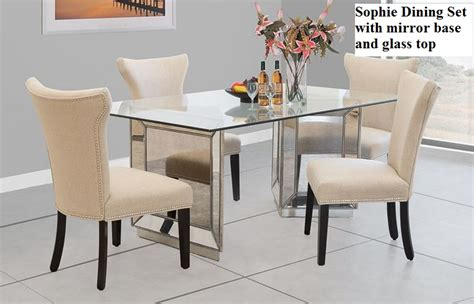 mirrored dining table set mirror dining set
